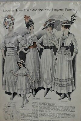 Pictorial Review 1915 New Lingerie Frocks Dresses Pattern Advertisment