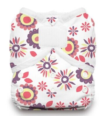 Thirsties Duo Wrap (cloth diaper cover) Size One, Hook and Loop, Alice Brights