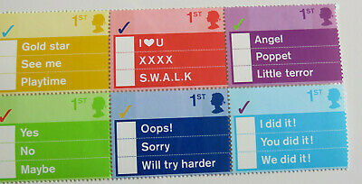Royal Mail commerative stamps school - teacher - gold star etc 6 1st class