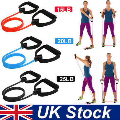 Resistance Bands w/Handle Assisted Pull Up Band Set Fitness Exercise Tubes Cord