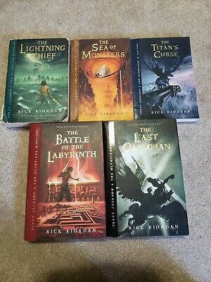 Percy Jackson and the Olympians Series 1-5 Rick Riordan paperback & hardcover