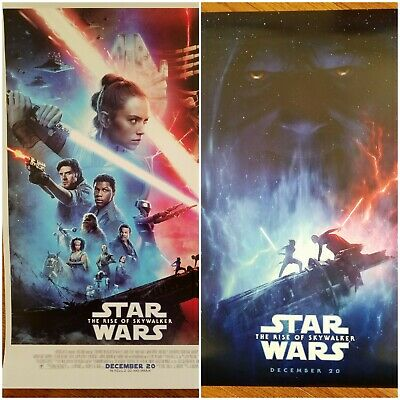 """STAR WARS THE RISE OF SKYWALKER ORIGINAL THEATER POSTER DOUBLE SIDED 14"""" x 20"""""""
