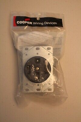 NEW Cooper Wiring Devices 50 Amp Power Receptacle 1258 - Free Shipping