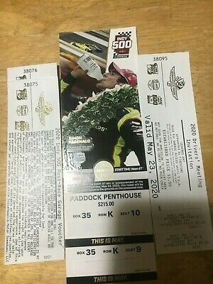 2 Tickets To The 104Th Running Of The Indianapolis 500 Paddock Penthouse 2020