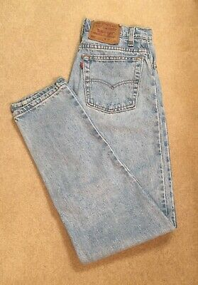 Vintage LEVIS 550 Red Tab Gorgeous Faded Blue Relaxed Fit Tapered Jeans 28x32