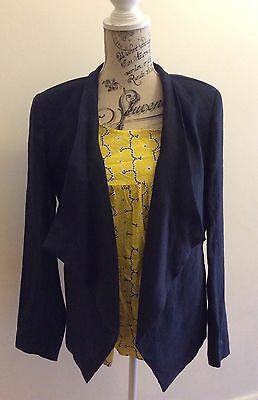 MICHAEL KORS Navy blue PureLinen Jacket  Size US10-Brand New with Tags