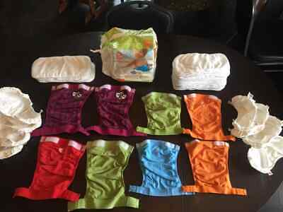 Huge gDiaper lot - 2 size systems, 8 covers, 39 pieces plus bonus items