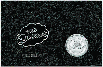 2020-P Tuvalu The Simpsons Krusty the Clown 1oz Silver Coin in Presentation Card