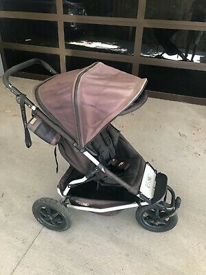 Mountain Buggy +One : 2 Seater inline pram buggy stroller + insect/shade cover