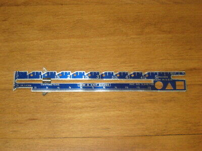 Metal Sew & Knit Gauge – Inches & Centimeters – Made In Usa