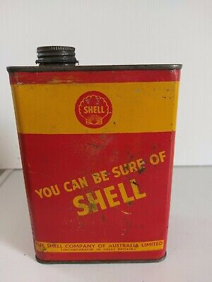 Shell 1quart tin