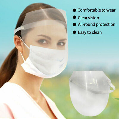 Clear Full Face Cover Shield Work Guard Safety Eye Protection Flip Up Visor