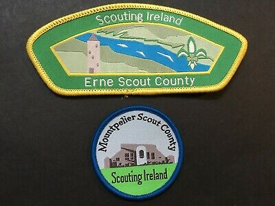 Ireland. Erne Scout County (Csp Shape) & Mountpelier Scout County Badges,