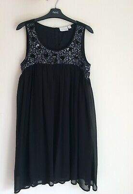 Next Black Beaded Occasion Dress 14yrs