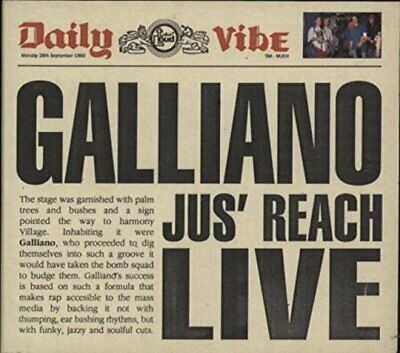 Galliano - Jus' reach-Live EP [Single-CD] - Galliano CD UWVG FREE Shipping
