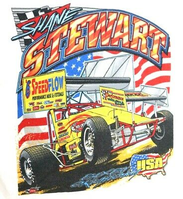 Speedway USA Vintage T shirt Car Racing Shane Stewart 6 Small Children Child 6/8