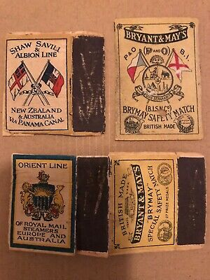 Vintage Matchbox And Labels Bryant & May Shipping Liners