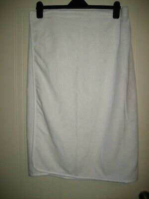 White Towelling Wrap Over Adjustable Elasticated Back One Size