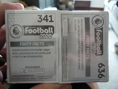 Brand new Panini Football 2020 Stickers Complete Full Set of 636 Stickers