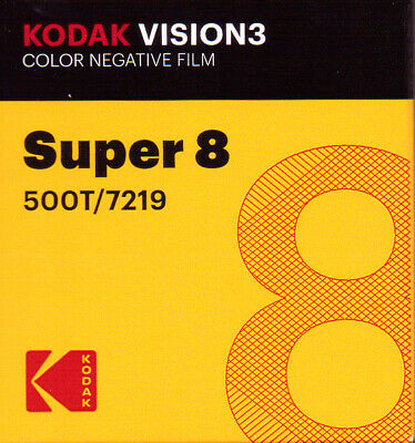 Kodak Vision 3 500T Super 8mm Color Negative Film (FRESH FROM THE FACTORY!)