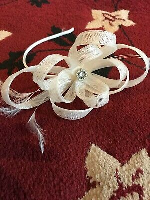 Ladies Fasinator Headband White