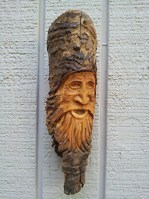 Wood Spirits Carvings Ents Wizard Gnome Pirate Nautical Folklore History Vintage