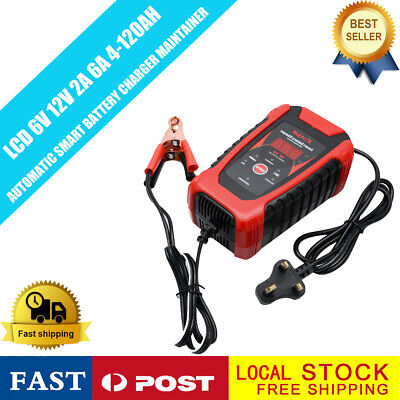 Smart Car Battery Charger 6/12V Automatic Pulse Repair Motorcycle LCD Display UK