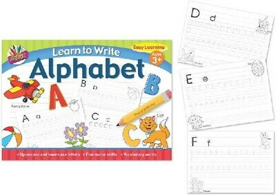 Learn To Write The Alphabet Letters Age 3+ Educational Activity Childrens