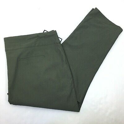 NEW Charter Club Women's Olive Green Cambridge Slim Pants Waist Smoothing 28W