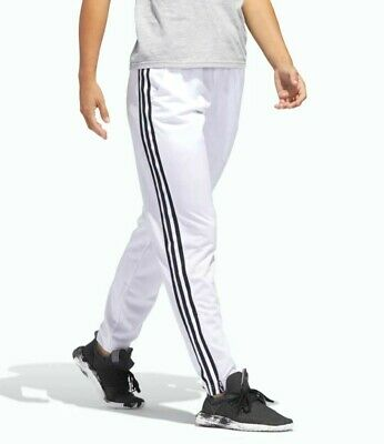 New Adidas Women's Essentials 3 Stripes Track Pants ~ Size Large  #Dv0560 White