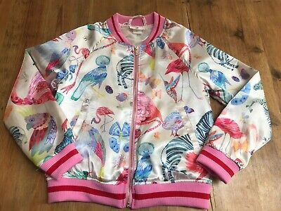 Girls H&M Satin Bomber Jacket Michelle Morin Collection Age 7-8 Yrs