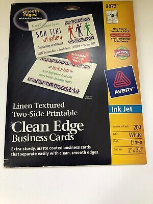 140 AVERY 8873 LINEN TEXTURED CLEAN EDGE BUSINESS CARDS 14x10=140