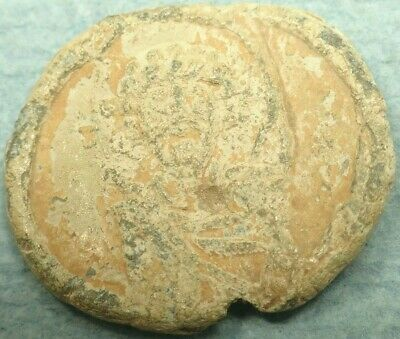 Byzantine Lead Imperial Seal, Bust / Text