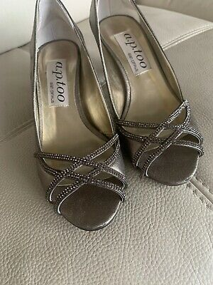 a.p. too Alan Pinkus Wedding Shoes Size 10 Silver/Gold Worn Once