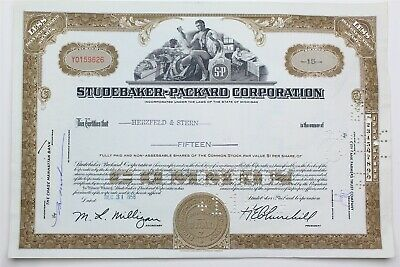15 SHARES STOCK CERTIFICATE #20 ISSUED 1//19//1917 PULLMAN MOTOR CAR COMPANY COPY