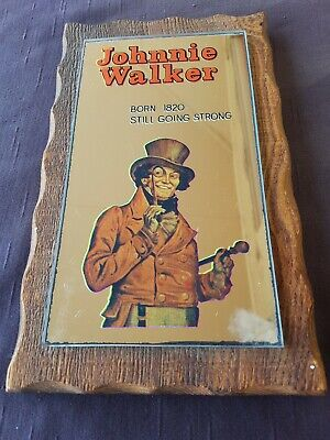 Vintage JOHNNIE WALKER BAR MIRROR. CARROLL & RICHARDSON.