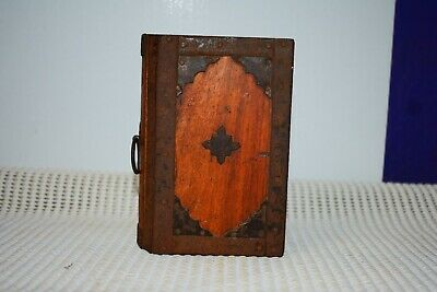 vintage wood box book hand made rustic used see pics for condition