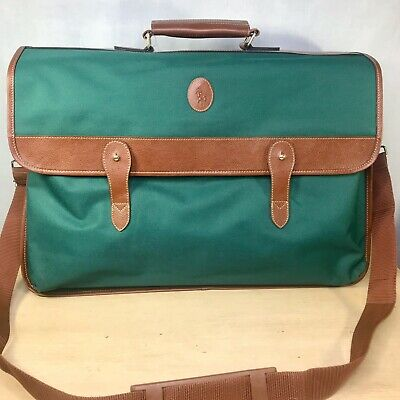 Ralph Lauren Green Duffle Messenger Bag Overnight Weekender For Travel Luggage