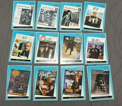Doctor Dr Who Strictly Ink Radio Times Foil 12 cards - 50c each starting bid!