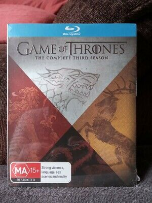 Game Of Thrones Season 3 New And Sealed With Rare Slipcover Region B