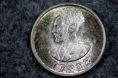 1936 - Ethiopia (1943-44) 50 Cents Silver Foreign Coin!!  #J06530