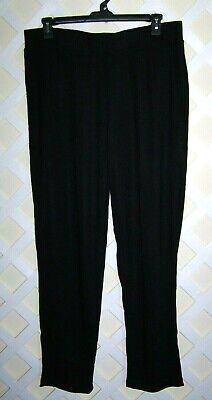 CJ BANKS Plus Size 1X 16W 18W Women's Black Casual Relaxed Restyled Pants NEW