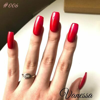 Press on Vanessa - Kit faux ongles rouge - colle Acrylique Handmade