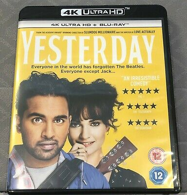 YESTERDAY (2019) 4K Ultra HD HDR Disc Only, With Box - NO DVD Disc