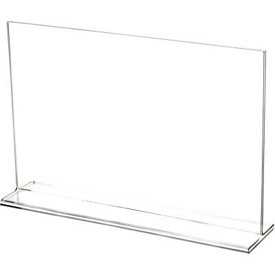"Plymor Clear Acrylic Sign Display / Literature Holder (Top-Load), 11"" W x 7"" H"