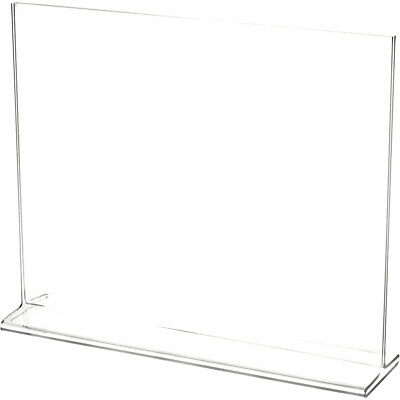 "Plymor Clear Acrylic Sign Display / Literature Holder (Top-Load), 11"" W x 8.5"" H"