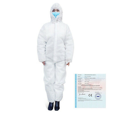 Protective Isolation Gown Hospital Medical Surgery Workwear Lab Hooded Coverall
