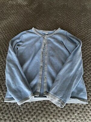 The Little White Company Girls Blue Bitterfly Cardigan Age 6-7 Years