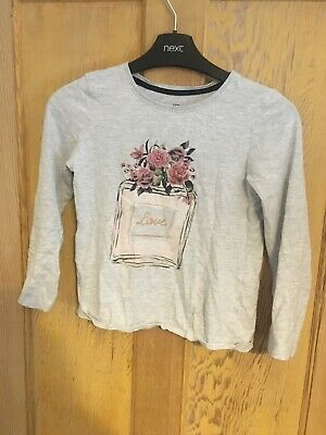 Young Dimension girls grey long sleeve T-shirt age 3-4 years