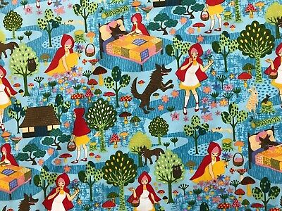Trans Pacific Little Red Riding Hood Print Quilting Weight Cotton Fabric